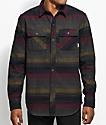 Dravus Kurt camisa de franela a rayas en gris, azul marino y color borgoño.