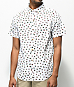 Dravus Ryan Triangle White Short Sleeve Button Up