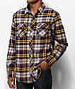 Dravus Travis Grey & Gold Flannel Shirt