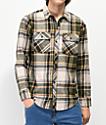 Dravus Travis Oatmeal & Green Flannel Shirt