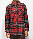 Dravus Travis Red, Black & Charcoal Flannel Shirt