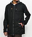 Dravus Woodland chaqueta negra con cremallera completa