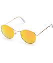 Dyllon gafas de sol redondas en oro rosa