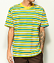EPTM. Green, Yellow & White Stripe T-Shirt