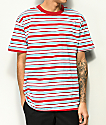 EPTM. Light Blue & Dark Red Stripe T-Shirt