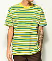 EPTM. camiseta de rayas verdes, amarillas y blancas