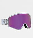 Electric Marcus Kleveland Brose gafas de snowboard en blanco y cromo rosa