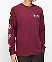 Element Bam Burgundy Long Sleeve T-Shirt