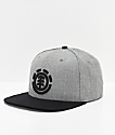 Element Knutsen Grey & Black Snapback Hat