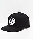 Element Knutsen gorra negra y blanca