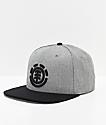 Element Knutsen gorra negra y gris