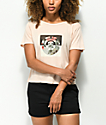 Element Rose Box Pink Semi-Cropped T-Shirt