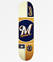 "Element x MLB Milwaukee Brewers Circle 8.0"" Skateboard Deck"