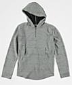 Elwood Curved Hem sudadera gris con capucha para niños