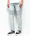 Elwood Moto jeans de mezclilla azul claro
