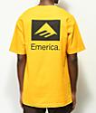 Emerica Brand Combo camiseta dorada