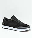 Emerica Dissent Black & White Suede Skate Shoes