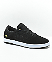 Emerica Dissent CT Black, Gold & White Skate Shoes