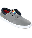 Emerica Figueroa Grey, Navy & White Suede Skate Shoes