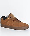 Emerica Reynolds G6 zapatos de skate de ante marrón y goma