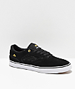 Emerica Reynolds Low Vulc Black, White & Gold Skate Shoes