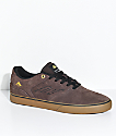Emerica Reynolds Vulc Brown, Gum & Gold Skate Shoes