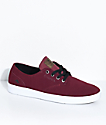 Emerica Romero Laced Burgundy & White Suede Skate Shoes