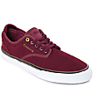 Emerica Wino G6 Burgundy & White Suede Skate Shoes