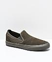 Emerica Wino G6 Slip-On zapatos de skate de ante verde