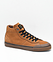 Emerica x Pendleton Indicator Hi Brown & Gum Leather Skate Shoes
