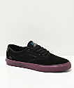 Emerica x Toy Machine Provost Slim Vulc Black & Purple Skate Shoes