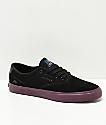 Emerica x Toy Machine Provost Slim Vulc Black & Purple Skate Shoes
