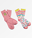 Empyre 2 Pack Brenn Smiley calcetines rosas