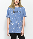 Empyre Annettey Low Key Blue & Bleach Splatter T-Shirt