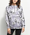 Empyre Anwen Lavender Floral Pullover Windbreaker Jacket