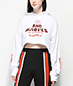 Empyre Ariana Bad Habits White Crop Hoodie