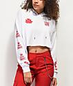 Empyre Ariana Dragon White Crop Hoodie