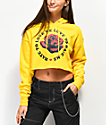 Empyre Ariana Love Rose Yellow Crop Hoodie
