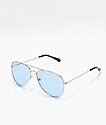 Empyre Aviator Silver & Oasis Blue Sunglasses