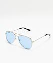 Empyre Aviator gafas de sol estilo aviador en azul y plata