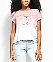 Empyre Benson To The Moon camiseta en color malva con efecto tie die