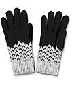 Empyre Black & Grey Chevron Chenille Gloves