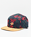 Empyre Bree Carnation Black & Tan 5 Panel Strapback Hat