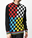 Empyre Brock Colorblock Checkered Sweater
