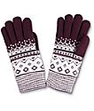 Empyre Burgundy Chenille Gloves
