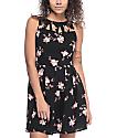 Empyre Caireann vestido negro floral