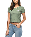 Empyre Cali Chill Olive Crop T-Shirt