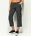 Empyre Cassia Black Stripe Crop Pants