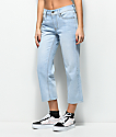 Empyre Cassia Light Blue Crop Straight Jeans