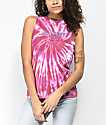 Empyre Chaine Whatever Pink Tie Dye Muscle Tank Top